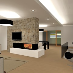Living room by Ricardo Freitas Arq.