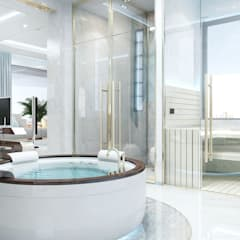 ​  Creative interiors design by Katrina Antonovich: scandinavian Spa by Luxury Antonovich Design