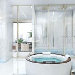 Spa de estilo  por Luxury Antonovich Design,