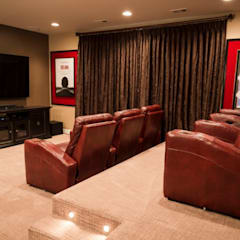 Media room by Lux Design Associates