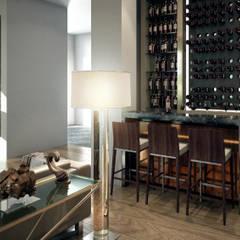 Cave à vin de style  par VA STUDIO