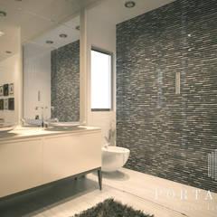 Master Suite, Luanda: Casas de banho  por Porta Branca