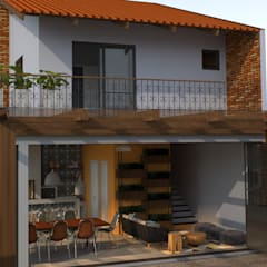 scandinavian Garage/shed by Angelica Pecego Arquitetura
