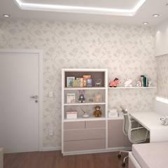 Quarto da Menina - Projeto de Interiores: Quarto infantil  por FZ Arquitetura e Interiores