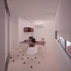 Oficina Director: Oficinas y Tiendas de estilo  por Fiallo Design Studio