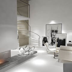 Edda İstanbul Proje Mimarlık – F residence İstanbul:  tarz Koridor ve Hol, Minimalist