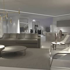 Edda İstanbul Proje Mimarlık – F residence İstanbul: minimal tarz tarz Oturma Odası