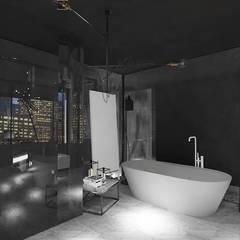 Edda İstanbul Proje Mimarlık – F Residence İstanbul:  tarz Banyo