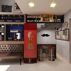 Barbearia retrô / salão de beleza masculino Adegas clássicas por Deborah Iachinski Arquitetura & Interiores Clássico