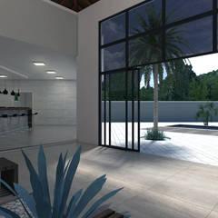 Residência Bermejo: Jardins de inverno rústicos por PACKER arquitetura e engenharia