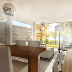 CASA CR: Casas de estilo  por Arquitecta Obadilla,Moderno Hormigón