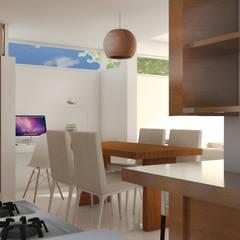 CASA CR: Comedores de estilo  por Arquitecta Obadilla,Moderno