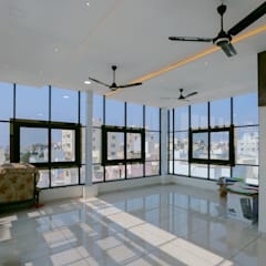 Gimnasios en casa de estilo  por ZEAL Arch Designs,
