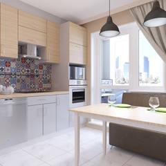 Визуализация кухни: Кухни в . Автор – PLYSPACE