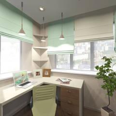 Проект 5 - ти комнатной квартиры. Коктейль света и цвета.: Рабочие кабинеты в . Автор – ARTWAY центр профессиональных дизайнеров и строителей,