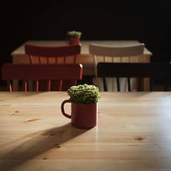 Detalle mobiliario: Bares y Clubs de estilo  de Estudio de Arquitectura Sra.Farnsworth