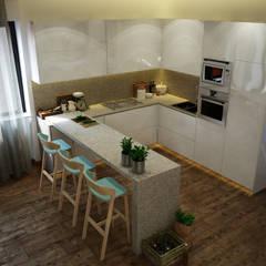 Diseño y reforma piso en Barcelona Centro: Cocinas de estilo  de Toolboxstudio