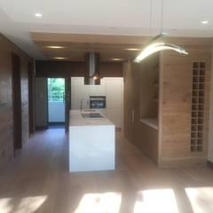 Luxury apartment interior allerations refurbishment :  Kitchen by Mark Gouws Architects