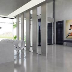 ÖZHAN HAZIRLAR İÇ MİMARLIK – L Evi: minimal tarz tarz Oturma Odası