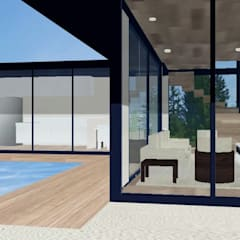 Casa container: Casas industriais por PRISCILLA BORGES ARQUITETURA E INTERIORES