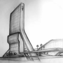 Boceto Mano Alzada: Hospitales de estilo  por ARQ. ERICK OCHOA
