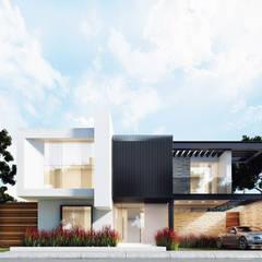 CASA EF: Casas de estilo  por Besana Studio, Minimalista