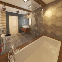 РУССКОЕ ШАЛЕ: Ванные комнаты в . Автор – atmosvera