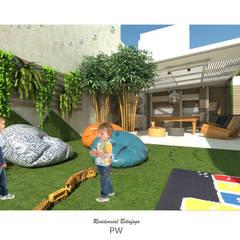 Projeto de parque infantil: Jardins minimalistas por Paula Werneck Arquitetura