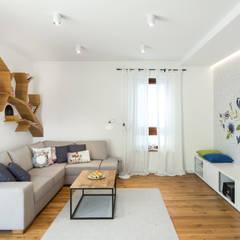 .kaszuby w warszawie: styl , w kategorii Salon zaprojektowany przez Art of home