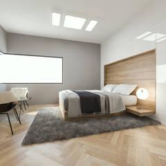 Salas de entretenimiento de estilo moderno de 디자인 이업 Moderno