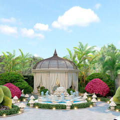 ​Beautiful landscape design from Katrina Antonovich:  Garden by Luxury Antonovich Design
