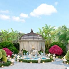 Beautiful landscape design from Katrina Antonovich:  Garden by Luxury Antonovich Design, Mediterranean