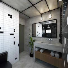 Bathroom by TÉRREO arquitetos, Industrial