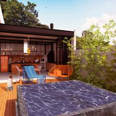 GOURMET + ATELIER  : Casas  por Macro Arquitetos