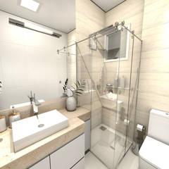 Banho Social: Banheiros  por Gustavo Bodini | Designer de Interiores