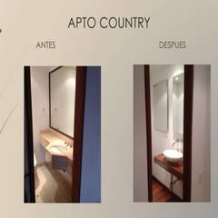 Baño social de Erick Becerra Arquitecto