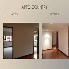 Cambio puertas piso techo de Erick Becerra Arquitecto