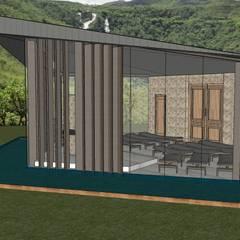 Ruang Komersial Modern Oleh Patricia Abreu arquitetura e design de interiores Modern Besi/Baja