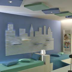 VIVIENDA UNIFAMILIAR: Dormitorios infantiles de estilo  de JUSTO DEL RIO D.I.