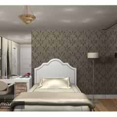 Projeto Suite com Closet -  SJC: Quartos  por Renata Monteiro Arquitetura e Interiores,Clássico
