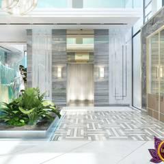 Futurism in interiors of Katrina Antonovich:  Corridor & hallway by Luxury Antonovich Design,