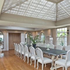 Beautiful Orangery on a Yorkshire hunting lodge:  Conservatory by Vale Garden Houses