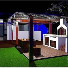 Renders Zona BBQ: Hoteles de estilo  por Design For You SAS