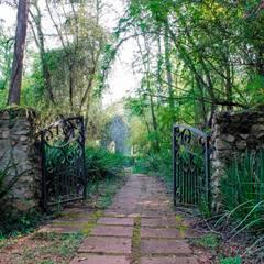 White River Manor:  Garden by Principia Design, Country