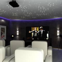 House St Andrews:  Media room by Principia Design