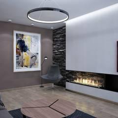 : Salas de estilo  por Interior designers Pavel and Svetlana Alekseeva
