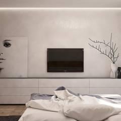 : Recámaras de estilo  por Interior designers Pavel and Svetlana Alekseeva