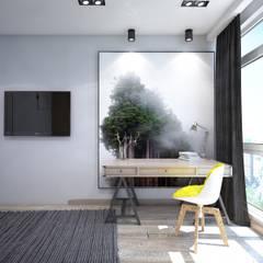 : Recámaras de estilo industrial por Interior designers Pavel and Svetlana Alekseeva