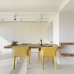 王宅  Wang Residence:  餐廳 by  何侯設計   Ho + Hou Studio Architects