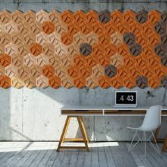 Organic Blocks Collection Escritórios escandinavos por Muratto | Cork Wall Design Escandinavo